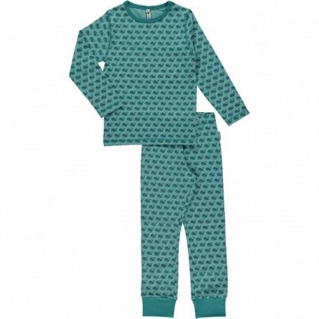 Pyjama 3-4 ans en coton bio GOTS Maxomorra - motif baleine