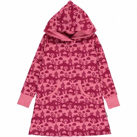Robe sweat en coton bio Maxomorra - Paysage rose