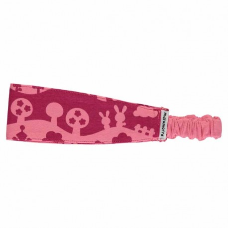 Serre-tête en coton bio Maxomorra - Paysage rose