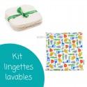 Kit de lingettes lavables pour le change