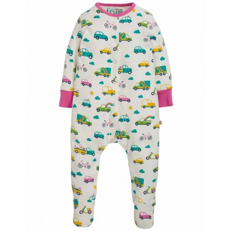 FRUGI pyjama en coton bio, motif Transport