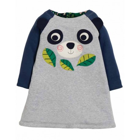 FRUGI robe en jersey bio, motif Panda