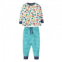 FRUGI pyjama deux-pièces manches longues - motif dinosaures