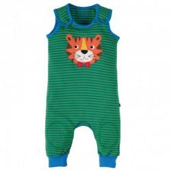 FRUGI salopette en coton bio avec genoux renforcés - motif Tigre