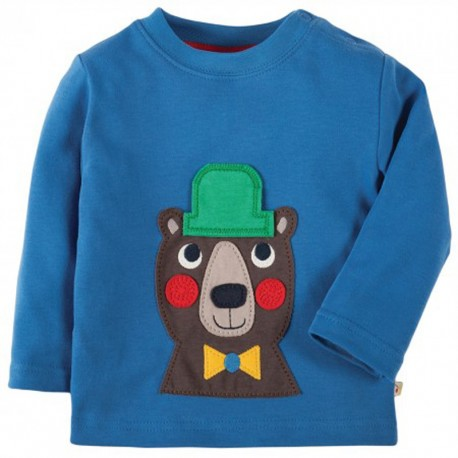 FRUGI haut manches longues motif Ours