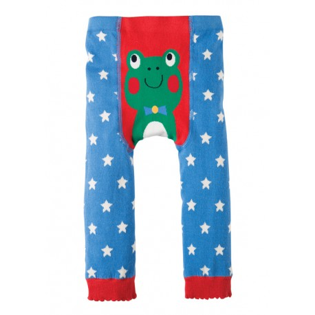 FRUGI leggings 0-6 mois en coton bio, motif Grenouille
