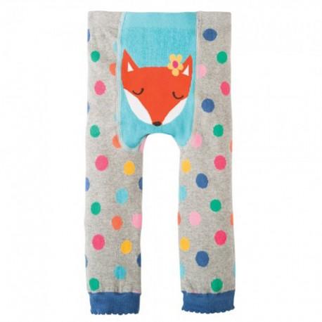 FRUGI leggings 0-6 mois en coton bio, motif Renard