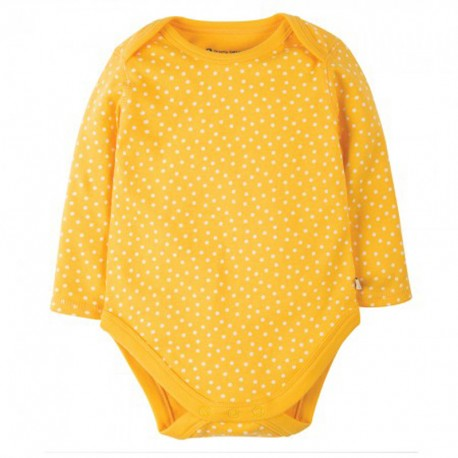 FRUGI body manches longues - jaune à points