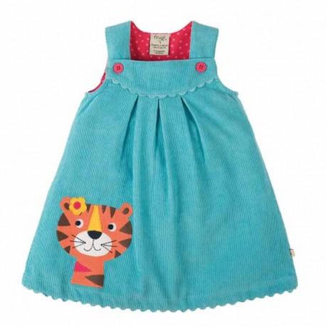 FRUGI robe en velours côtelé motif tigre