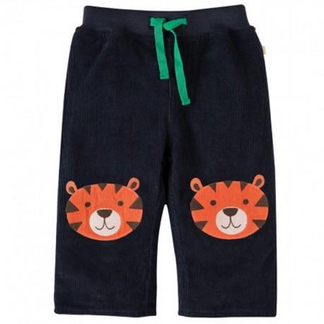 FRUGI pantalon en velours côtelé, motif tigre