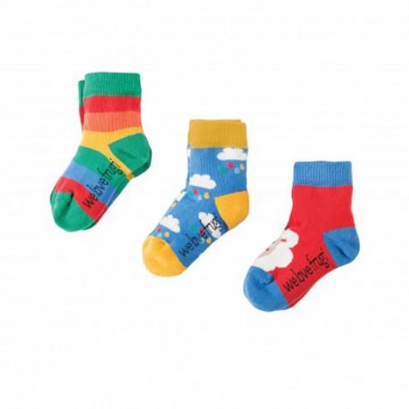 FRUGI chaussettes pack de 3 motif mouton