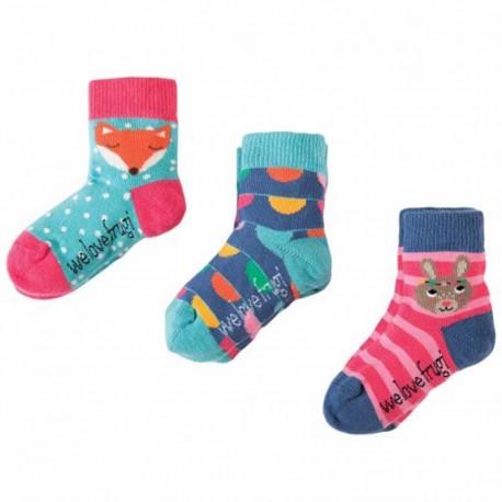 FRUGI chaussettes pack de 3 motif lapin