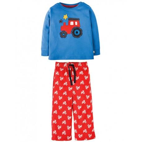 FRUGI pyjama deux-pièces motif tracteur