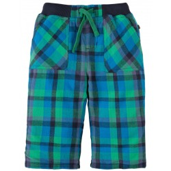 FRUGI pantalon cosy écossais vert