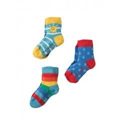 FRUGI chaussettes pack de 3 motif soleil