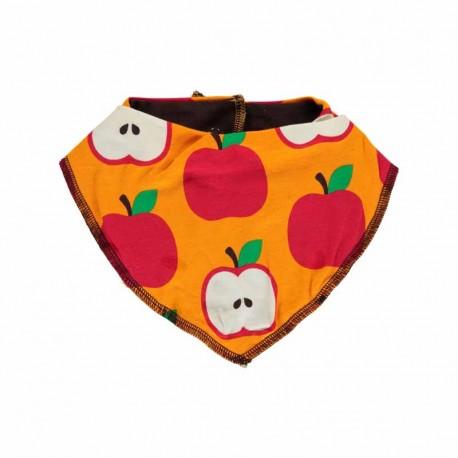 Bavoir bandana en coton bio Maxomorra, motif Pomme