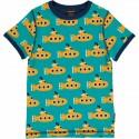 T-shirt manches courtes en coton bio Maxomorra, motif Sous-marin