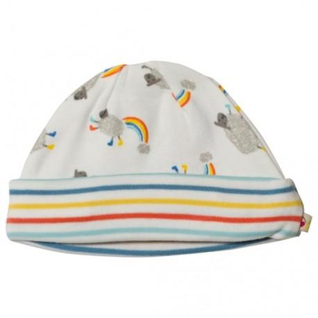 Bonnet nouveau-né en coton bio Frugi - Petits moutons