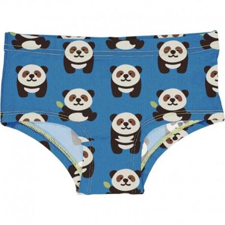 Slip taille basse en coton bio Maxomorra, motif Panda