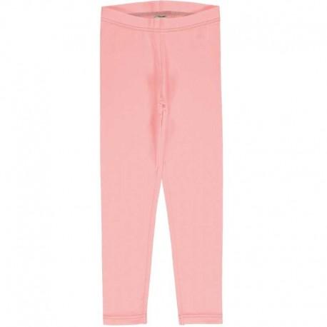 Leggings en coton bio Maxomorra - rose pâle