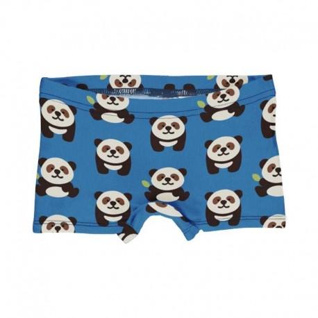 Slip shorty en coton bio Maxomorra, motif Panda