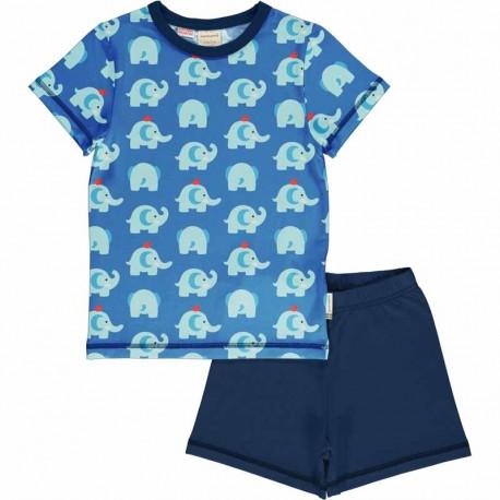 Pyjama d'été en coton bio Maxomorra, motif Eléphant
