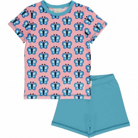 Pyjama d'été en coton bio Maxomorra, motif Papillon