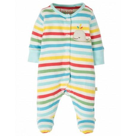 Pyjama en coton biologique FRUGI, motif Baleine