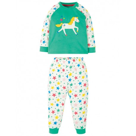 Pyjama 2-3 ans en coton biologique FRUGI, motif Licorne