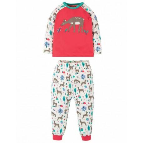 Pyjama en coton biologique FRUGI, motif Biche