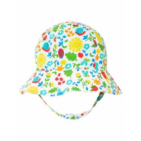 Chapeau réversible en coton biologique FRUGI - motif jardin