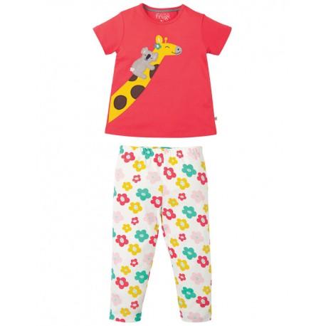 Pyjama deux pièces en coton biologique FRUGI - motif girafe