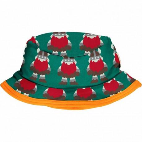 Chapeau d'été en coton biologique Maxomorra, motif Vikings