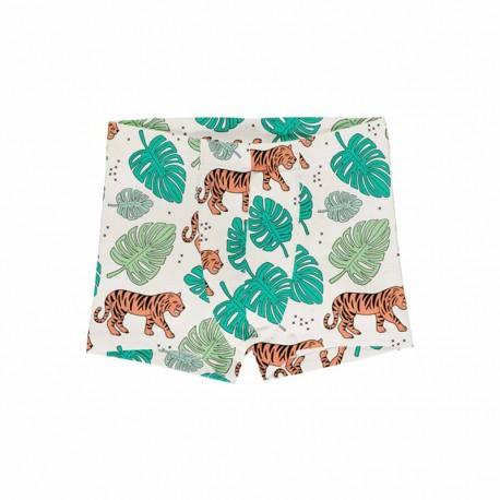 Boxer en coton biologique Meyadey, motif Tigres