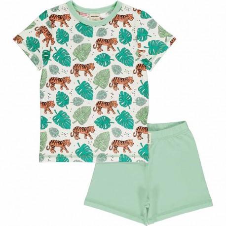 Pyjama d'été Meyadey, motif Tigres