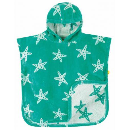 Serviette à capuche bébé Frugi, motif étoile de mer