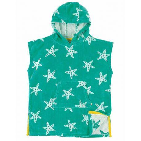 Serviette à capuche enfant Frugi, motif étoile de mer
