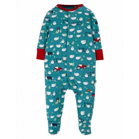 Pyjama grenouillère Frugi, motif Chien de berger