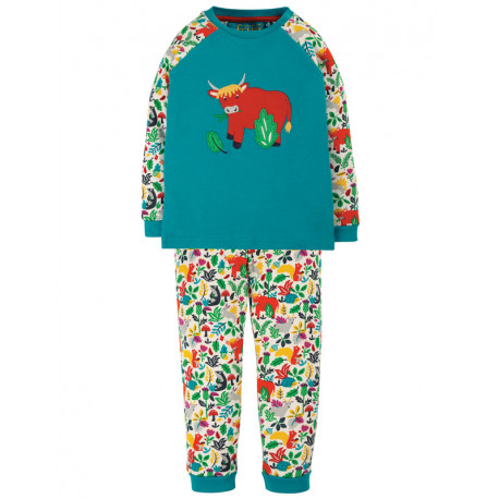 Pyjama 12-18 mois Frugi, motif Vache Ecossaise