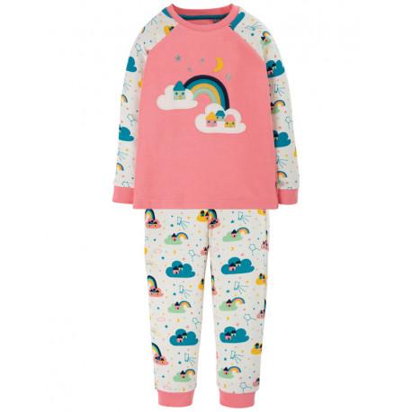 Pyjama deux-pièces Frugi, motif Arc-en-ciel