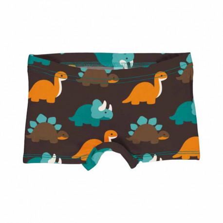 Slip shorty en coton biologique Maxomorra, motif Dinosaure