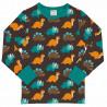 T-shirt manches longues en coton biologique Maxomorra, motif Dinosaure
