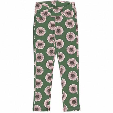 Pantalon souple en coton biologique Maxomorra, motif Calendula