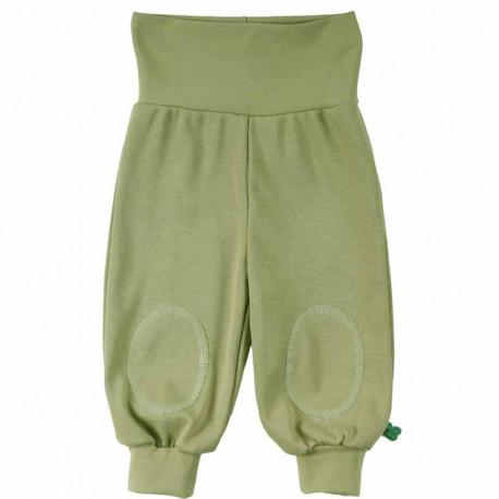 Sarouel bébé en coton bio Fred's World, vert
