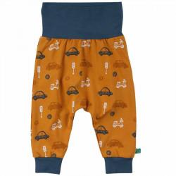 Sarouel bébé en coton bio Fred's World, motif voitures