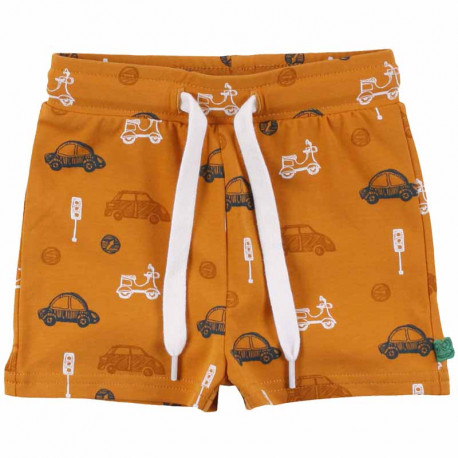 Short bébé en coton bio Fred's World, motif voitures