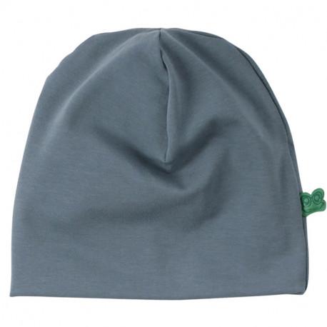 Bonnet bébé en coton bio Fred's World, bleu-gris