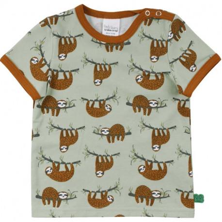 T-shirt manches courtes Fred's World, motif Paresseux