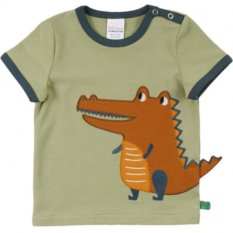 T-shirt manches courtes Fred's World, motif Crocodile