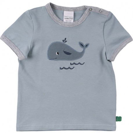 T-shirt manches courtes Fred's World, motif Baleine